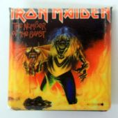 Iron Maiden - 'The Number of the Beast' Square Badge